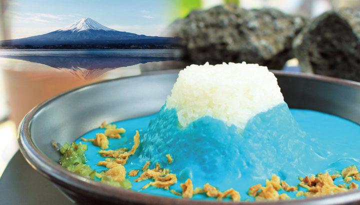 「インスタ映え」する青いカレー新登場! 本物の富士山を表現した「Mt.Fuji Curry」